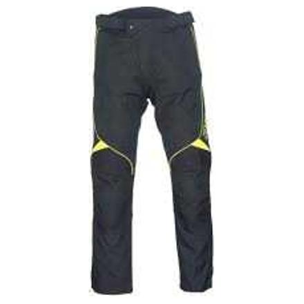 Fluo textiele motorbroek - Zwart-Fluor