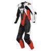 Laguna Seca 5 1pc Leather Suit Perf. - Zwart-Wit-Rood