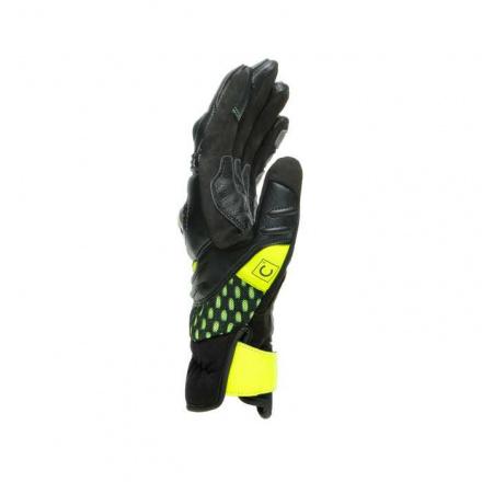 Dainese Vr46 Sector Korte Handschoenen, Zwart-Antraciet-Fluor (2 van 4)