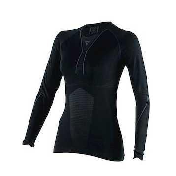 Dainese D-Core Thermoshirt LS Dames, Zwart-Antraciet (1 van 1)