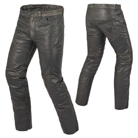 P.jeans Pelle Vintage leren motorbroek - Zwart