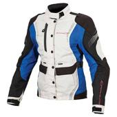 Beryl motorjas - Zwart-Grijs-Blauw