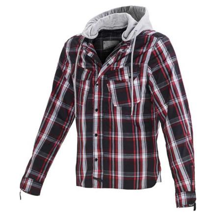 Westcoast casual hoodie - Zwart-Rood-Grijs