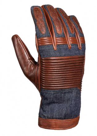 Durango handschoen - Bruin-Blauw