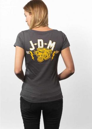 John Doe T-Shirt Tiger Dames, Grijs (2 van 2)