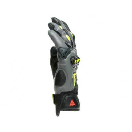 Dainese Vr46 Sector Korte Handschoenen, Zwart-Antraciet-Fluor (3 van 4)