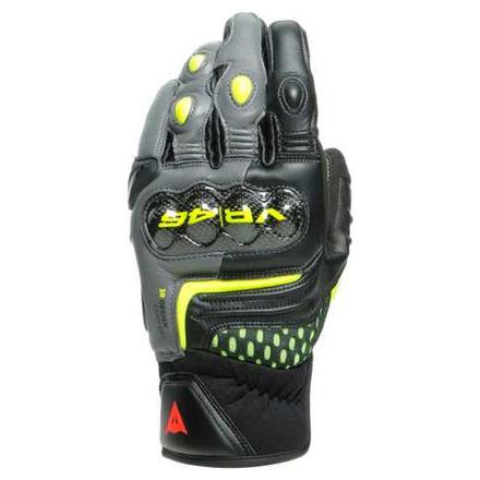 Dainese Vr46 Sector Korte Handschoenen, Zwart-Antraciet-Fluor (1 van 4)