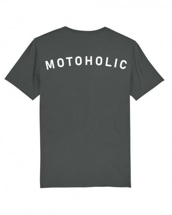 Motoholic vrijetijds T-shirt, Antraciet (2 van 3)