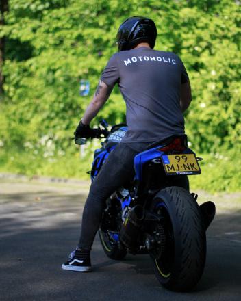 Motoholic vrijetijds T-shirt, Antraciet (3 van 3)