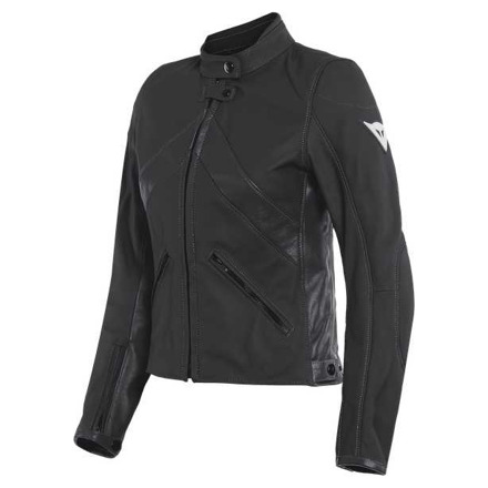 Dainese Santa Monica Lady Leather Jacket, Zwart (1 van 2)
