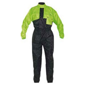 Simple Regenoverall - Zwart-Fluor