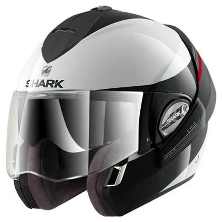 Shark Evoline 3 Hakka, Wit-Zwart-Rood (2 van 3)