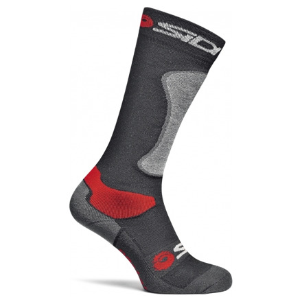 Sidi Road Socks - Zwart-Rood